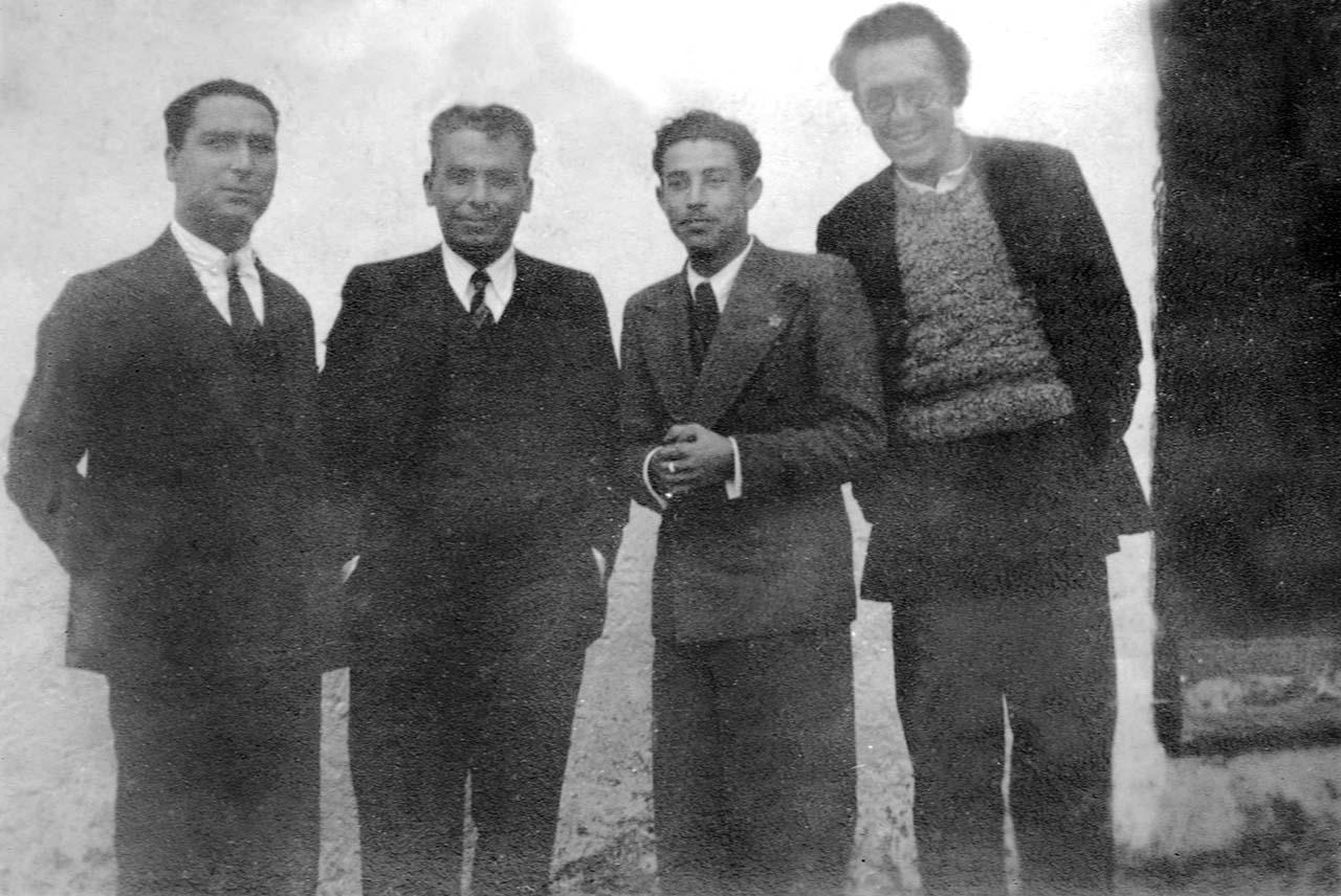 Los maestros Marcial Cosme, Angel Ruiz Enciso, Francisco Pro y Diego Villagran