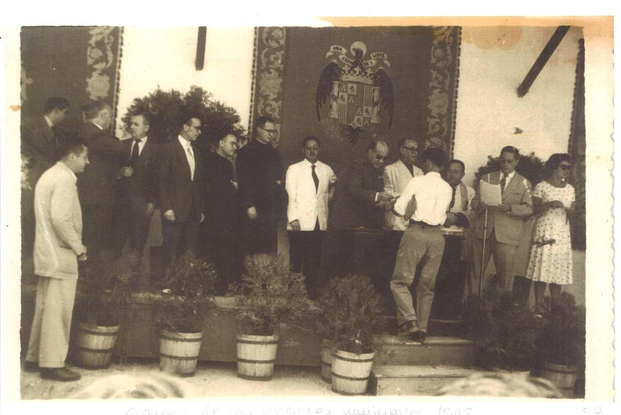 Ayuntamiento de San José del Valle en los años 40